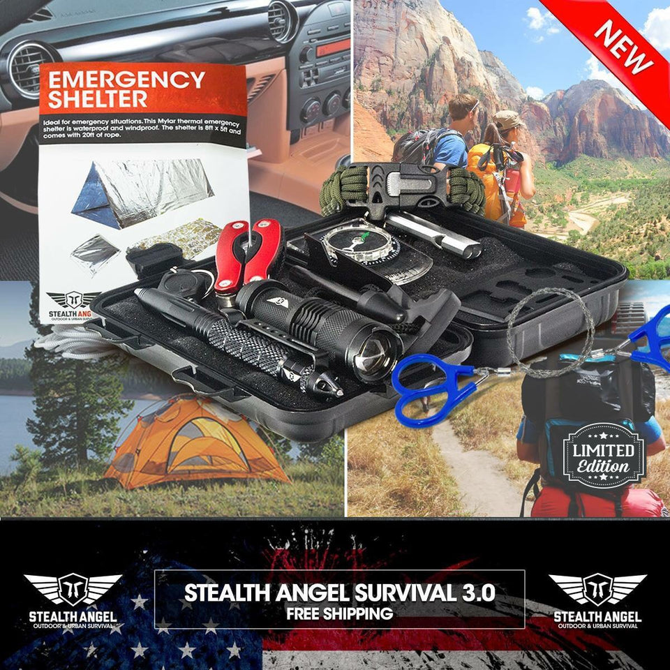 Emergency Survival 10 In 1  Gear Professional Tools