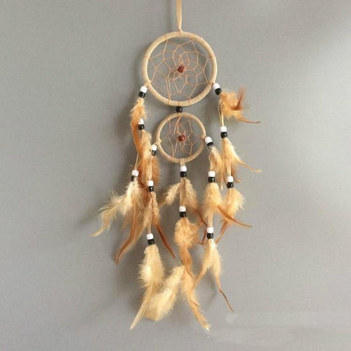Handmade Dream Catcher with Feathers Hanging Approx