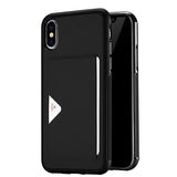 Leather Card Case for iPhone X Wallet Credit Card Slot