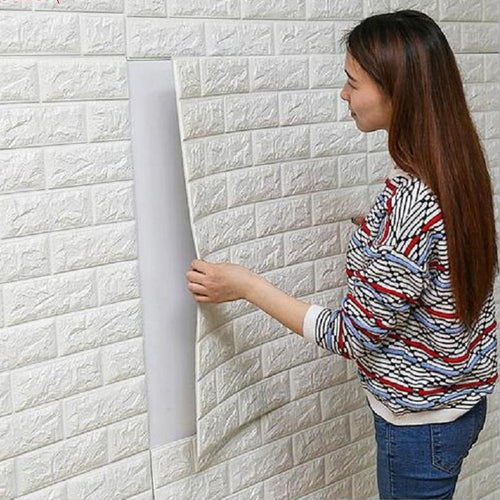 3D Brick Wall Stickers Living Room