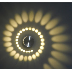 Multicolor Luminous Shadow Spiral Effect Lamp - With Remote Control