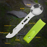 Camping fork spoon Knife