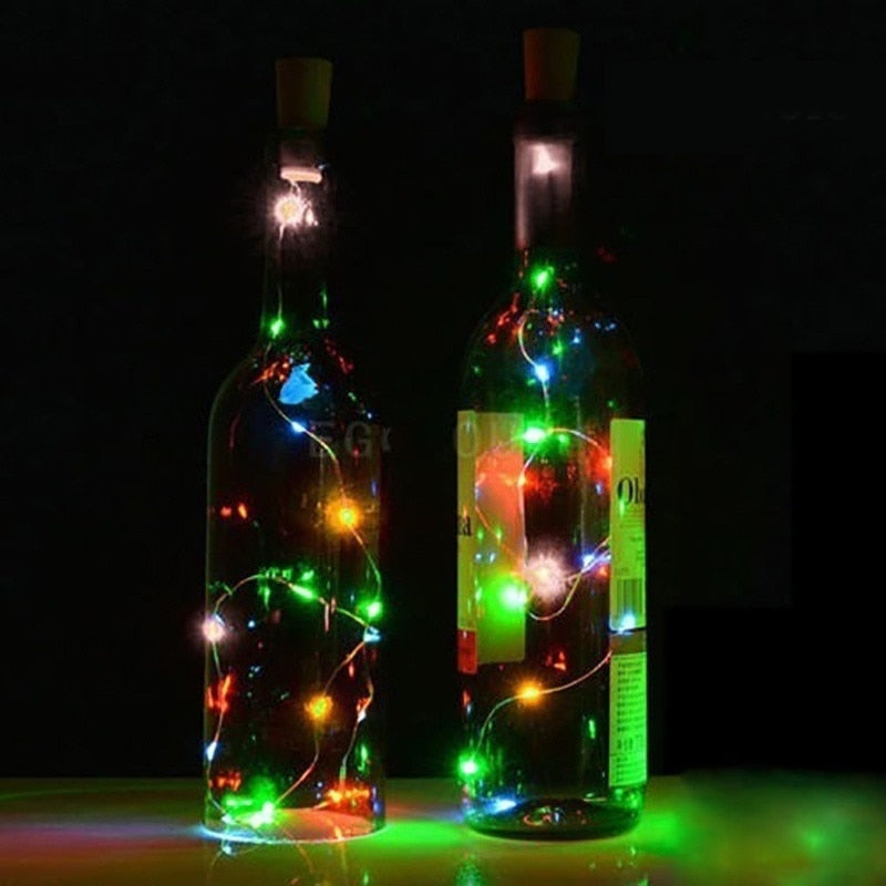 10 LED Solar Powered Wine Bottle