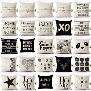 Letter Love Home Cushion covers