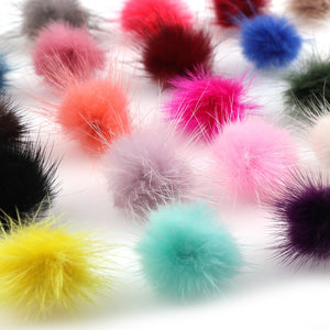10Pcs 23 Colors 3cm Mink Pompoms Fur Balls