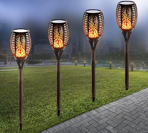 Solar Torch Lights Outdoor Dancing Flickering Flame