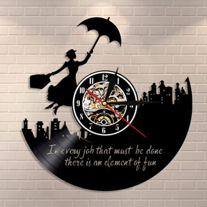 Retro Nostalgia Mary Poppins Clock