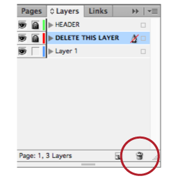 delete template layer indesign
