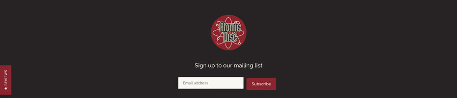 Email list sign up form in footer
