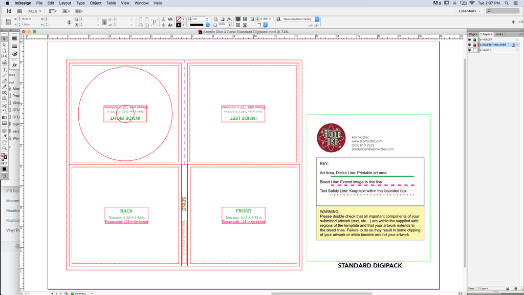 cd printing template for indesign