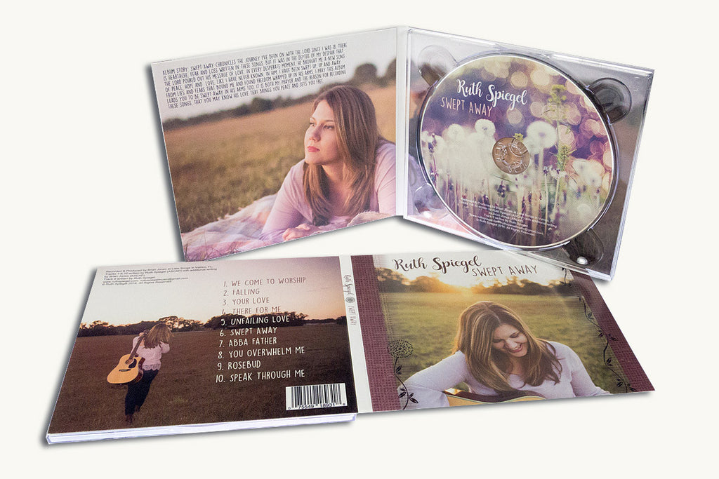 Full color custom printed digipacks with CDs or DVDs from Portland Oregon.