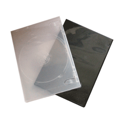 DVD cases comes in clear or black.