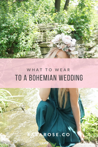 WHAT TO WEAR TO A BOHEMIAN WEDDING: THE CASUAL BOHO BRIDE