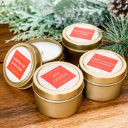 Juniper Fir And Balsam Small Gold Tin Candle - SARAROSE