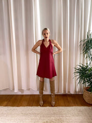 Convertible Slip Dress - Wine - SARAROSE