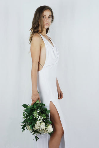 The Alexandra Gown | White - SARAROSE