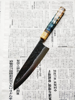 Manaka Hamono Shirogami #2 with Stainless Clad Gyuto 210mm