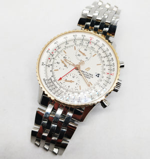 Breitling Navitimer Chronograph 18k Red Gold with Mercury Silver Dial
