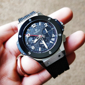 Hublot Big Bang Carbon Fiber Chronograph Automatic with Stainless Steel Case & Black Ceramic Bezel  341.SB.131.RX