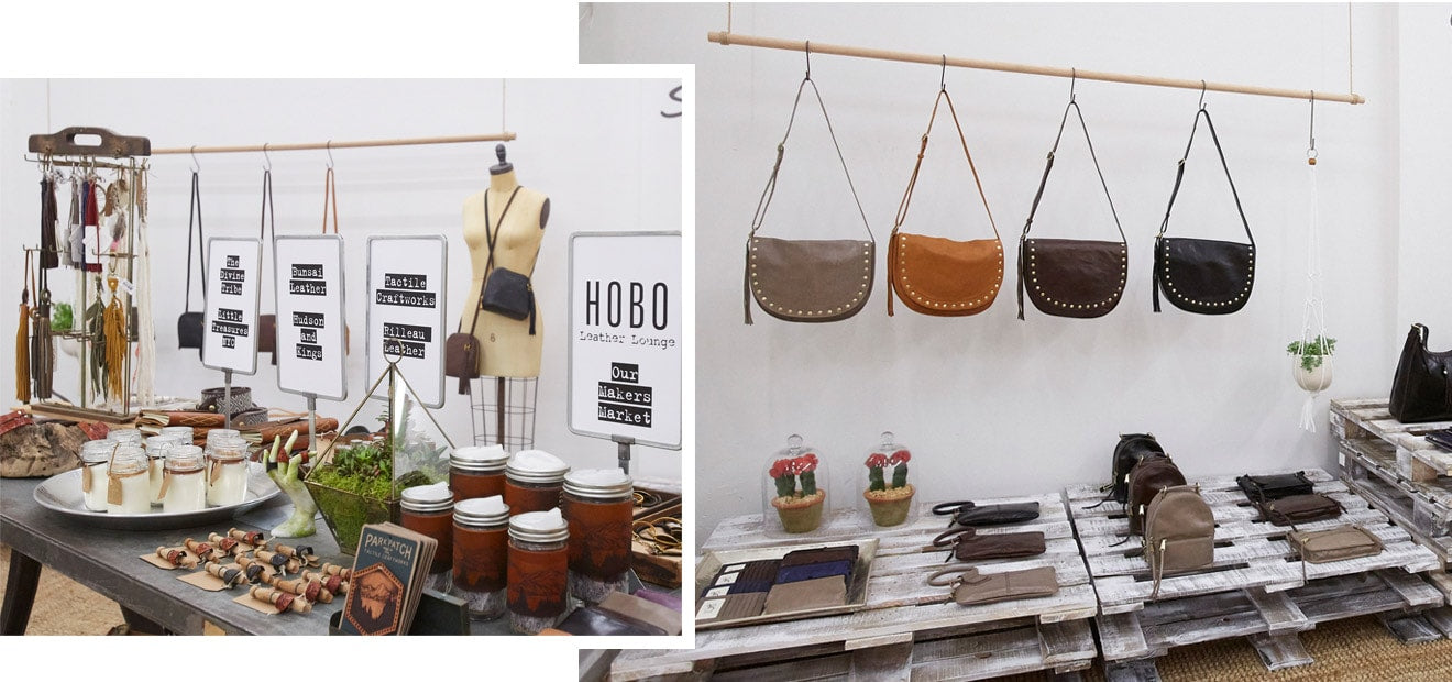 A peek inside the Leather Lounge, The Makers Market and Hobo Leather Shop