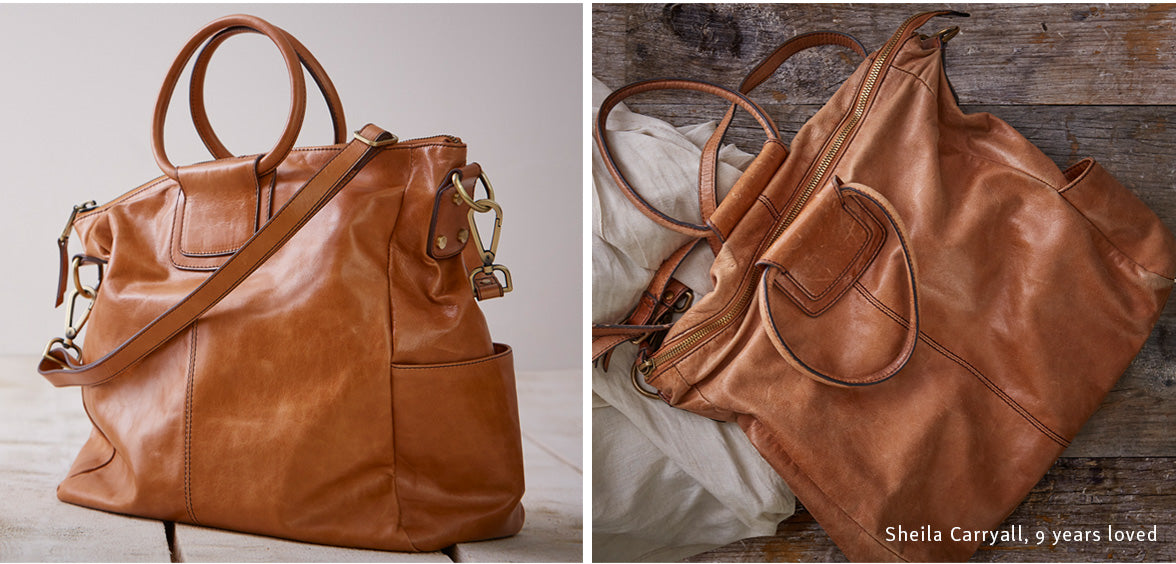 The Sheila Crossbody in Vintage Hide leather