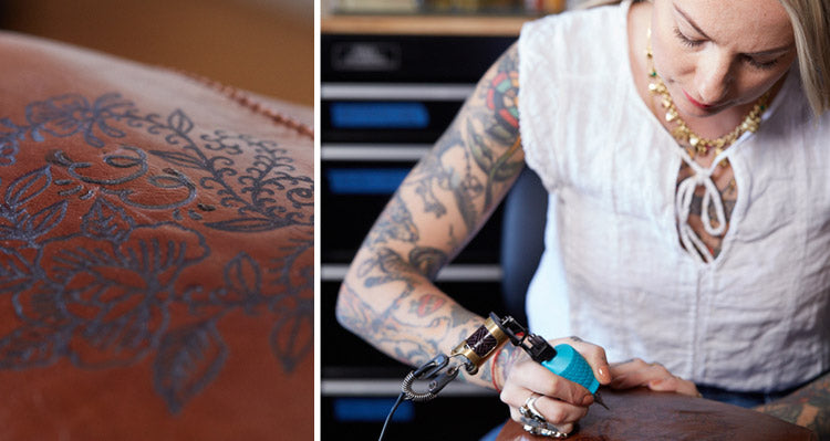 Inked designs from our first Artisan Series with Tattoo Artist Virginia Elwood