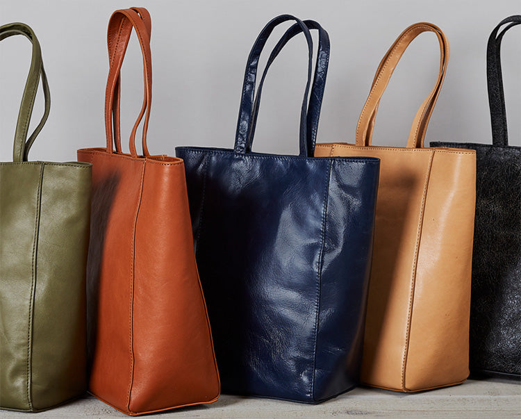 Mini leather totes perfect for your essential items!