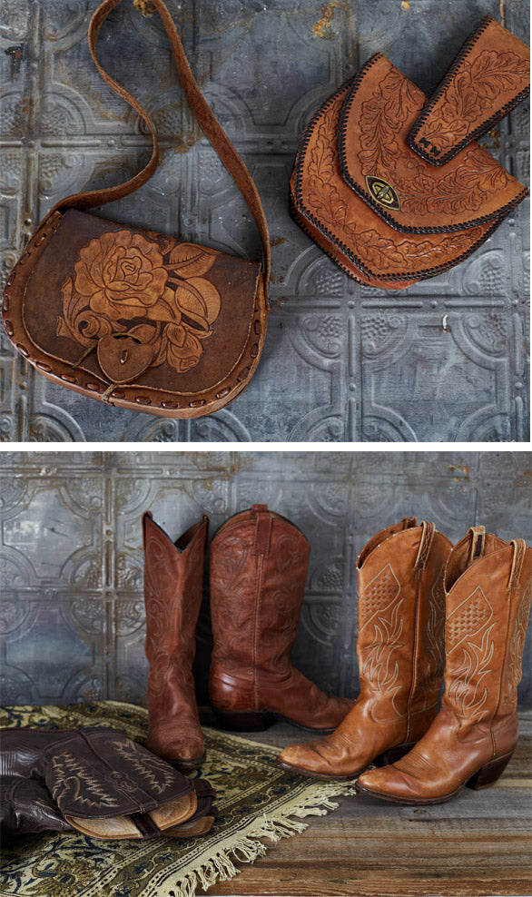 Shop beautiful vintage purses and the coolest vintage cowboy boots for women!