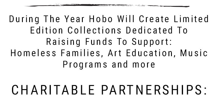 Purchases through our Live the Code platform contribute to Hobo's charitable partnerships