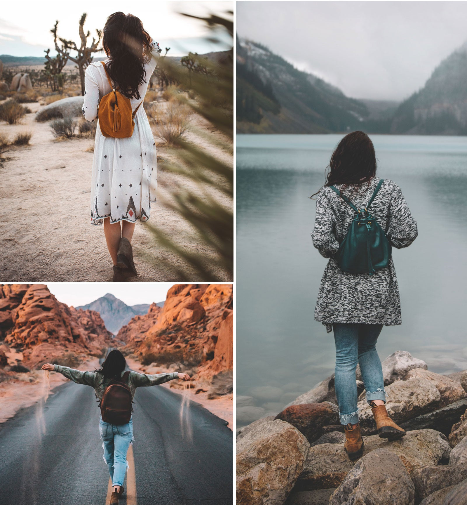 Leather backpack styles perfect to travel with!