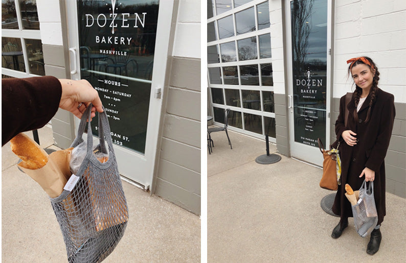 Jessica's Market Totes perfect for the Dozen Bakery!