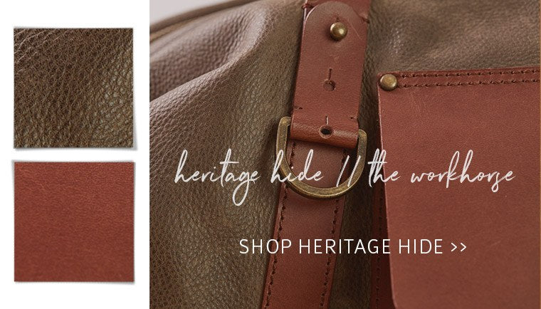 Explore our Mens collection, featuring Heritage Hide Leather bags and wallets