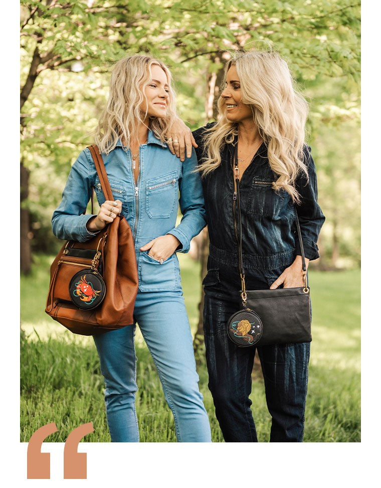 Shop the new HOBO GO Star Sign collection and personalize your bag.