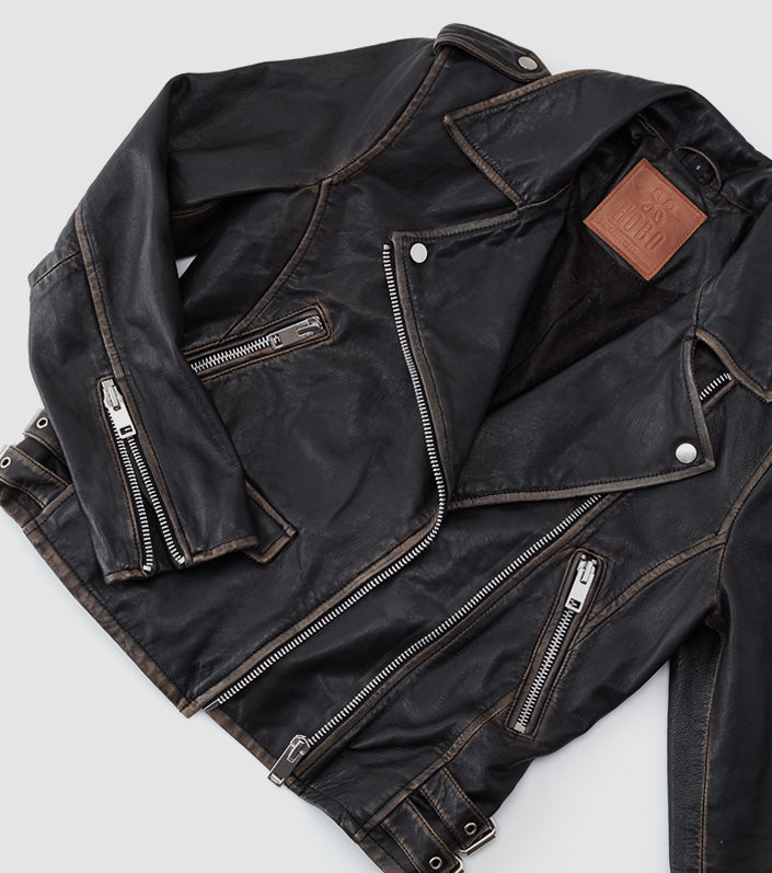 Shop the limited edition capsule collection, now featuring leather jackets
