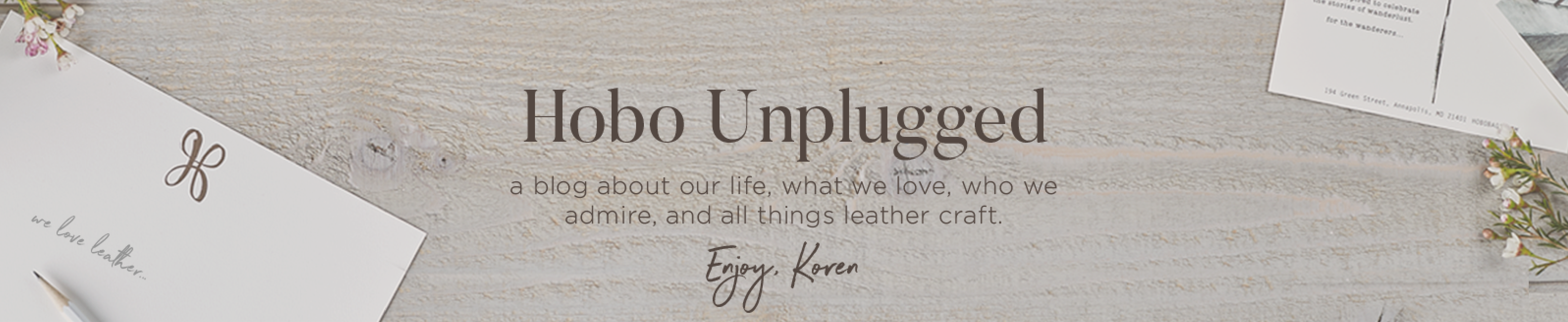 A blog about our life, what we love, who we admire and all things leather craft.