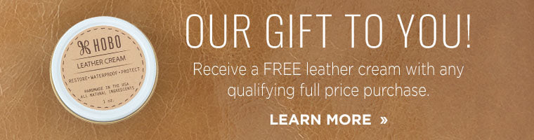Receive a Free Leather Cream with any qualifying full price purchase