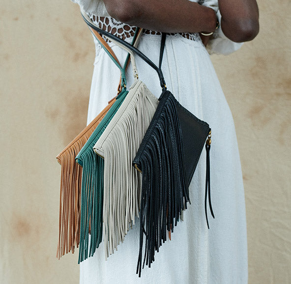 boho-tinged bags you'll love, shop our FESTIVAL FRINGE collection