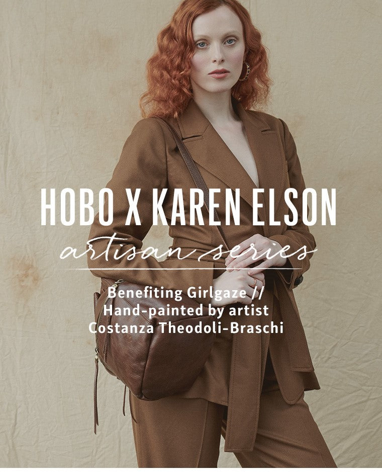 Shop the hand painted Karen Elson Series leather bags