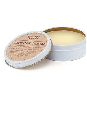 Use Leather Cream to restore moisture and enhance the natural leather shine.