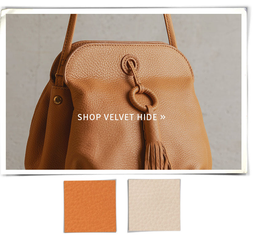 Shop our softest leather items from the Velvet Hide Collection