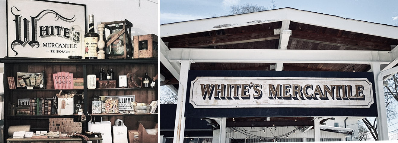 Shop at White's Mercantile Nashville, site of our Nashville Leather Lounge
