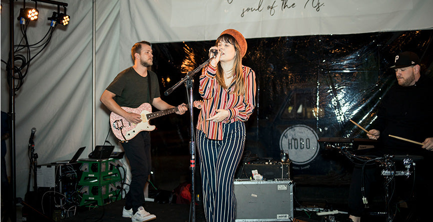 Danielle Mason kept the live music alive going into the night.