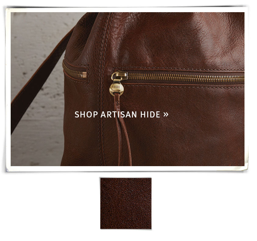 Explore our Artisan Hide collection, featuring leather handbag and wallet styles with a rugged charm