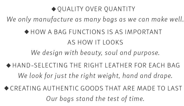 Our Design Philosophy // Quality over quantity