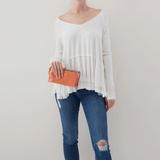 Dusty Coral Lauren Clutch Wallet  Hobo