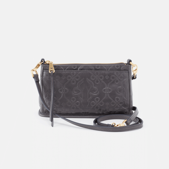 Embossed Graphite Cadence Crossbody  Hobo