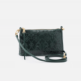 Embossed Evergreen Cadence Crossbody  Hobo