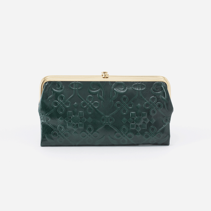 Embossed Evergreen Lauren Clutch Wallet  Hobo
