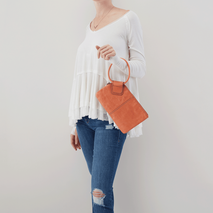 Dusty Coral Sable Wristlet  Hobo