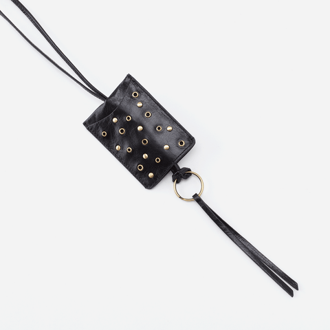 Black  Hobo ID Card Bag Charm